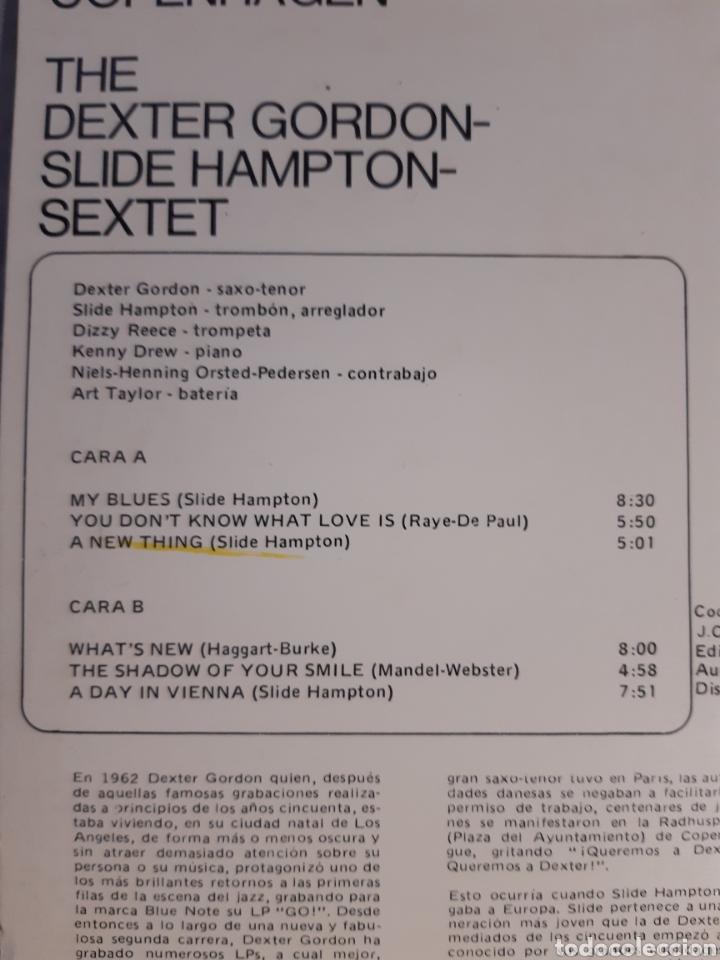 Discos de vinilo: LP DEXTER GORDON AND SLIDE HAMPTON A DAY IN COPENHAGEN ( nuevo) - Foto 3 - 240243130