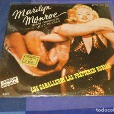 Discos de vinilo: LP BSO OST BANDA SONORA MARILYN MONROE LOS CABALLEROS LAS PREFIEREN RUBIAS SPAIN 80 VINILO BIEN. Lote 240244595