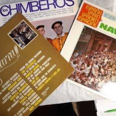 Discos de vinilo: 3 LP DE MUSICA NAVARRA Y LOS CHIMBEROS. Lote 240246345