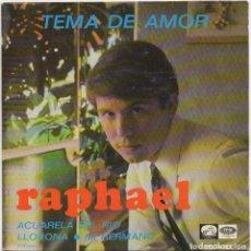 Disques de vinyle: RAPHAEL - TEMA DE AMOR / EP EMI DE 1967 / BUEN ESTADO RF-4796. Lote 240263275
