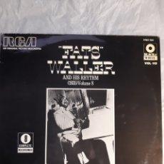 Discos de vinilo: LP NUEVO FATS WALLER AND HIS RHYTHM 1935 VOL. 8. Lote 240264270
