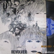 Discos de vinilo: THE BEATLES - REVOLVER LP - EDICION ESPAÑOLA - EMI / ODEON RECORDS 1966 STEREO LABEL AZUL OSCURO. Lote 240332300
