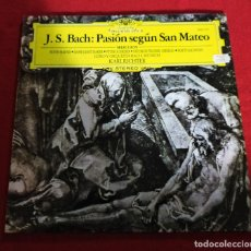 Discos de vinilo: J.S. BACH - PASION SEGUN SAN MARCOS - LP. Lote 240362560