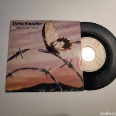 Disques de vinyle: DAVID KNOPFLER (DIRE STRAITS) WHEN WE KISS. SINGLE VINILO 45RPM. Lote 240385235
