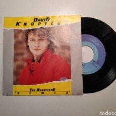Disques de vinyle: DAVID KNOPFLER (DIRE STRAITS) THE URRICANE. SINGLE VINILO 45RPM. Lote 240385755