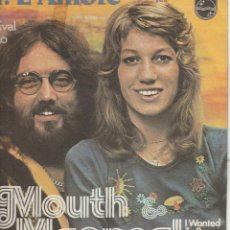 Discos de vinilo: 45 GIRI MOUTH & MACNEAL AH L'AMORE 24O FESTIVAL DI SANREMO I WANTED TO BE PHILIPS WEST GERMANY. Lote 240412785