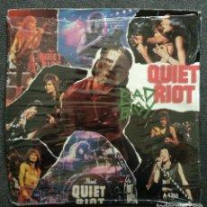 Discos de vinilo: SINGLE 1984 - QUIET RIOT / BAD BOY - VINILO PRECINTADO CBS RECORDS. Lote 240419510