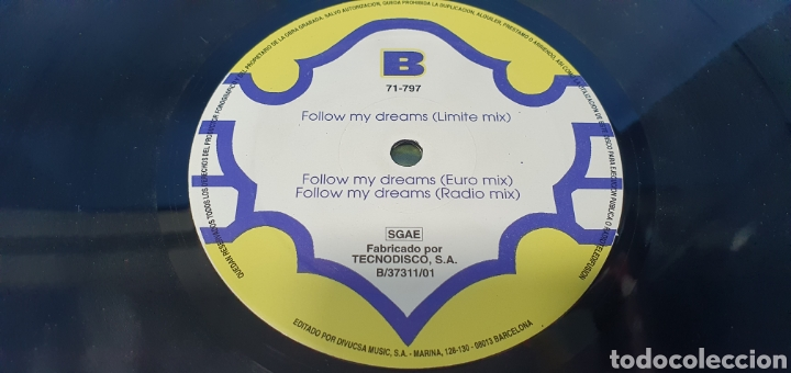 Discos de vinilo: DISCO DE VINILO - SIRAGO FEAT CHUMI D.J. - FOLLOW MY DREAMS - Foto 4 - 240429325