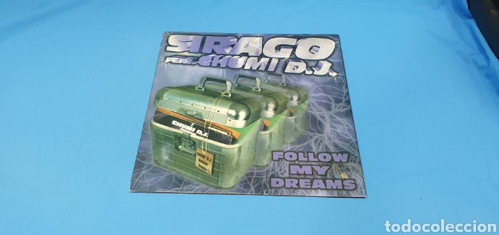 DISCO DE VINILO - SIRAGO FEAT CHUMI D.J. - FOLLOW MY DREAMS (Música - Discos de Vinilo - Maxi Singles - Pop - Rock Internacional de los 90 a la actualidad)