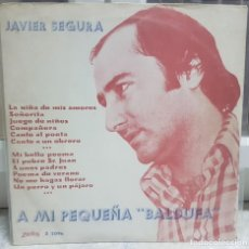Discos de vinilo: JAVIER SEGURA - DISCO VINILO RARO Y DIFÍCIL LP - A MI PEQUEÑA BALDUFA - 1977 - ZARTOS Z - 2096. Lote 240437475