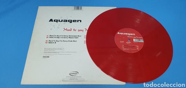 Discos de vinilo: DISCO DE VINILO - AQUAGEN - HARD TO SAN IM SORRY - Foto 3 - 240438150