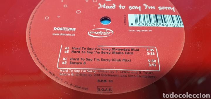 Discos de vinilo: DISCO DE VINILO - AQUAGEN - HARD TO SAN IM SORRY - Foto 4 - 240438150