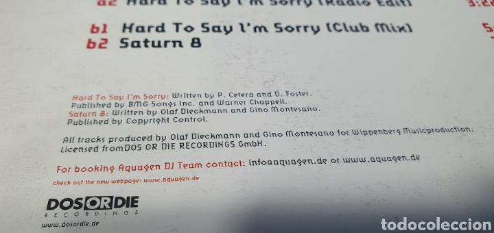 Discos de vinilo: DISCO DE VINILO - AQUAGEN - HARD TO SAN IM SORRY - Foto 6 - 240438150