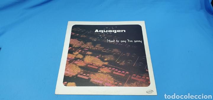 DISCO DE VINILO - AQUAGEN - HARD TO SAN I'M SORRY (Música - Discos de Vinilo - Maxi Singles - Pop - Rock Internacional de los 90 a la actualidad)