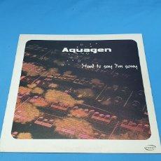 Discos de vinilo: DISCO DE VINILO - AQUAGEN - HARD TO SAN I'M SORRY. Lote 240438150