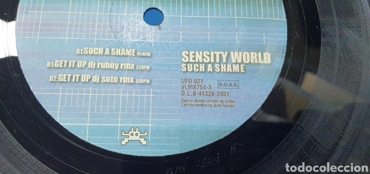 Discos de vinilo: DISCO DE VINILO - SENSITY WORLD - SUCH A SHAME - Foto 4 - 240440145