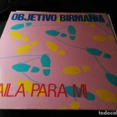 Discos de vinilo: DISCO LP- OBJETIVO BIRMANIA- BAILA PARA MI-1985. Lote 240441540