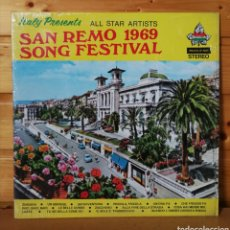 Discos de vinilo: LP ALBUM , SAN REMO 1969 SONG FESTIVAL. Lote 240449240