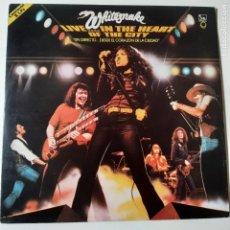 Disques de vinyle: WHITESNAKE - LIVE IN THE HEART OF THE CITY - SPAIN 2 LP 1981 + ENCARTE- EXC. ESTADO.. Lote 240453200