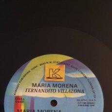 """Discos de vinilo: FERNANDO VILLALONA – MARIA MORENA LABEL: KUBANEY – K-60037 FORMAT: VINYL, 12"""", 33 ⅓ RPM COUNTRY: U. Lote 240489050"""