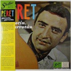Discos de vinilo: PERET - GARROTÍN, GARROTÁN - LP SPAIN 2019 - SHELLAC DISC SHELL012 - RUMBA CATALANA - PRECINTADO. Lote 240496255