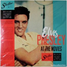 Discos de vinilo: ELVIS PRESLEY - AT THE MOVIES - LP SPAIN 2019 - SHELLAC DISC - MINT / SEALED. Lote 240513765