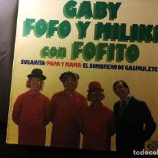 Discos de vinilo: DISCO LP-GABY FOFO Y MILIKI CON FOFITO-LOS PAYASOS DE TV - AÑO 1975. Lote 240526930