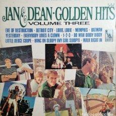 Discos de vinilo: JAN AND DEAN - GOLDEN HITS VOLUMEN 3 - LP DE VINILO 1ª EDICION U.S.A. STEREO #. Lote 240588710