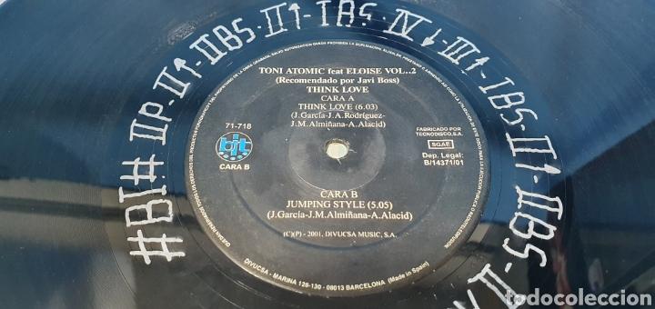 Discos de vinilo: DISCO DE VINILO - THINK LOVE - TONI ATOMIC - Feat. ELOISE Vol.2 - Foto 4 - 240590740