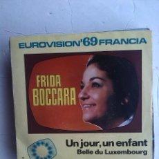 "Discos de vinilo: FRIDA BOCCARA - UN JOUR, UN ENFANT SINGLE 7"" 1969. Lote 240601425"