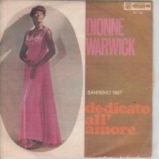 Discos de vinilo: 45 GIRI DIONNE WARWICH DEDICATO ALL'AMORE SANREMO 67 SCEPTER RECORDS GO WITH LOVE BURT BACHARAC. Lote 240604665