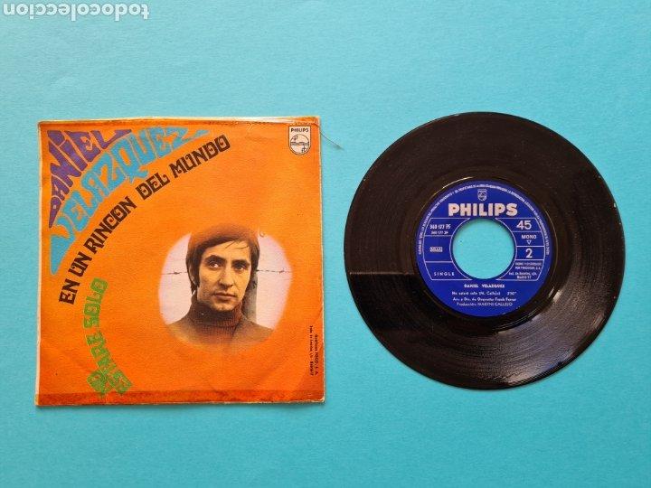 Discos de vinilo: DISCO VINILO - DANIEL VELAZQUEZ - EN UN RINCON DEL MUNDO / NO ESTARE SOLO - SINGLE 1968 - Foto 2 - 237310880