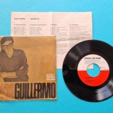 Discos de vinilo: DISCO VINILO - GUILLERMO - A VELIÑA / A VOS HIRMANS + 2 GALICIA - EP 1968 - VER FOTOS. Lote 237312370
