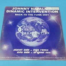 Discos de vinilo: DISCO DE VINILO - BACK TO THE FUNK 2001 - JOHNNY NAPALM & DYNAMIC INTERVENTION. Lote 240605650