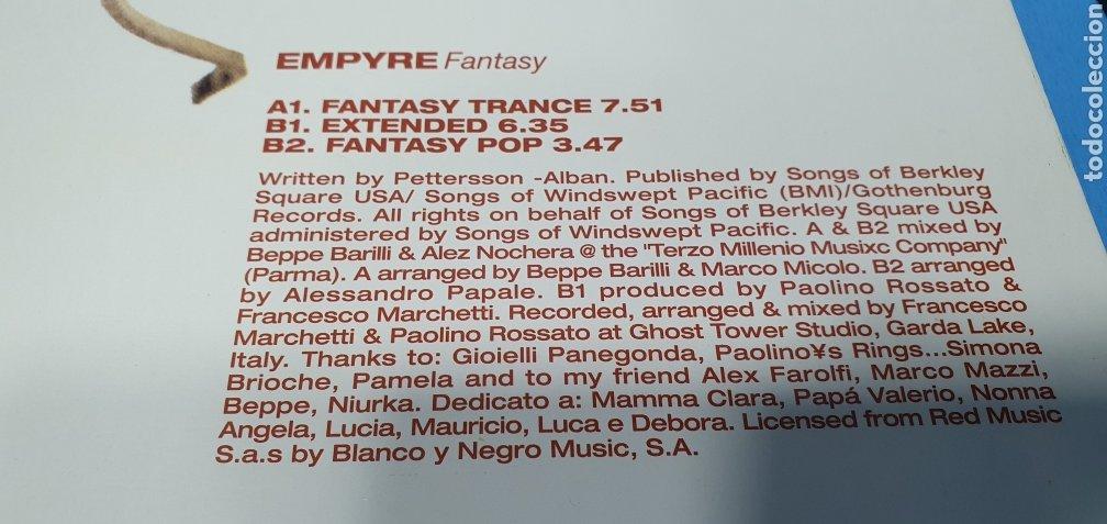 Discos de vinilo: DISCO DE VINILO - EMPYRE Fantasy - Foto 5 - 240617575