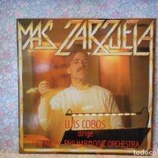 Discos de vinil: MAS ZARZUELA. LUIS COBOS. LA TEMPRANICA.. Lote 240620280