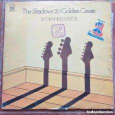 Disques de vinyle: SHADOWS - 20 GOLDEN GREATS (LP2) 1977. Lote 240622415