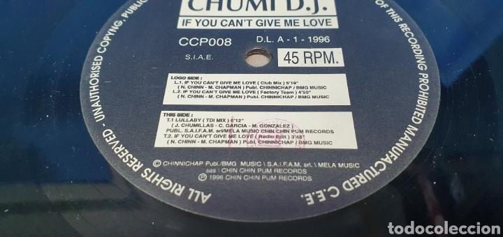 Discos de vinilo: DISCO DE VINILO - IF YOU CANT GIVE ME LOVE - CHUMI D.J. - Foto 3 - 240625120