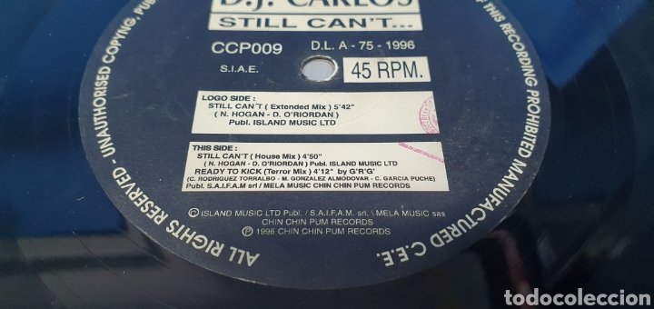 Discos de vinilo: DISCO DE VINILO - STILL CANT... D.J. CARLOS - Foto 4 - 240627970