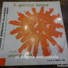 Discos de vinilo: FEDERICO GARCIA LORCA. VINILO ITALIANO. LAMENTO PER LA MORTE DI IGNACIO.. Lote 240633185