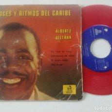 Discos de vinilo: ALBERTO BELTRAN - VOCES Y RITMOS DEL CARIBE - EP ODEON ESPAÑA 1960 // VINILO ROJO. Lote 240634670