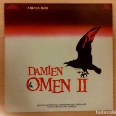 Disques de vinyle: DAMIEN OMEN II (LA MALDICIÓN DE DAMIEN) JERRY GOLDSMITH RE-EDICIÓN SILVA SCREEN 1987 COMO NUEVO!. Lote 240636080