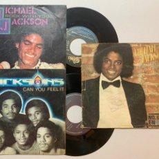 Discos de vinilo: LOTE MICHAEL JACKSON NO PARES HASTA QUE TENGA SUFICIENTE ROCK WITH YOU CAN YOU FEEL IT. Lote 240641465