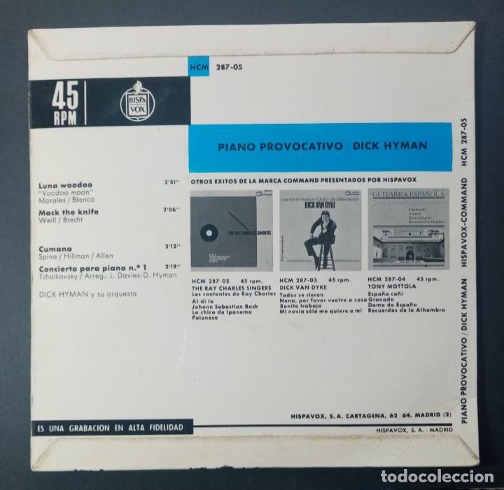 Discos de vinilo: DICK HYMAN - Luna voodoo - EP 1965 - COMMAND - Foto 2 - 240664065