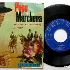 Discos de vinilo: PEPE MARCHENA - LOS CUATRO MULEROS / LA ROSA - SINGLE BELTER 1963 BPY. Lote 240665075