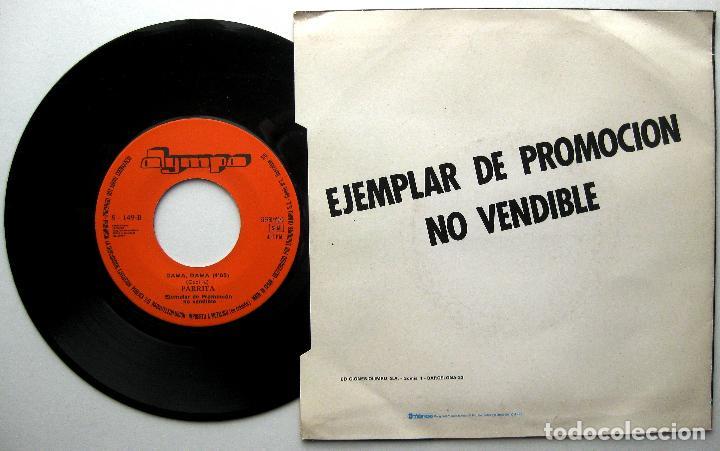 Discos de vinilo: Parrita - Dama, Dama - Single Olympo 1982 PROMO BPY - Foto 2 - 240669160