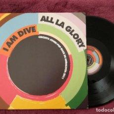 Discos de vinilo: ALL LA GLORY + I AM DIVE (JDA) LP ESPAÑA - CIRCUITO JOVEN POP ROCK DE ANDALUCIA 2011. Lote 240685200