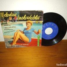 Discos de vinilo: EP MELODIAS INOLVIDABLES Nº 5 - MARTA + 3 - BELTER (1961) - DAVID HARKNESS Y ORQUESTA. Lote 240686895