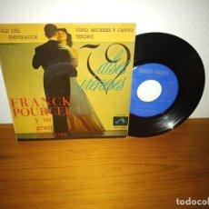 Discos de vinilo: EP FRANCK POURCEL Y ORQUESTA- VALS DEL EMPERADOR + 2 - LA VOZ DE SU AMO (1961). Lote 240693400