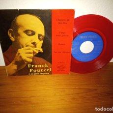 Discos de vinilo: EP FRANCK POURCEL Y ORQUESTA- CHANSON DE BEN-HUR + 3 - LA VOZ DE SU AMO (1962) - VINILO ROJO!!. Lote 240694905